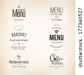 label  logo set for restaurant... | Shutterstock .eps vector #177360527