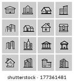 vector black real estate set | Shutterstock .eps vector #177361481