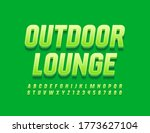 vector green emblem outdoor... | Shutterstock .eps vector #1773627104