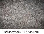 grunge floor tile background | Shutterstock . vector #177363281