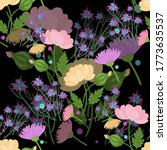 bright delicate flowers on a... | Shutterstock .eps vector #1773635537