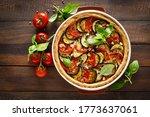 Tart With Vegetables. Homemade...