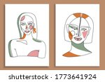 modern abstract faces with... | Shutterstock .eps vector #1773641924