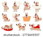 cartoon dog mascot. cute dogs... | Shutterstock .eps vector #1773645557