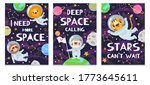 animal in space. hand drawn... | Shutterstock .eps vector #1773645611