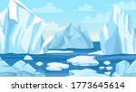 cartoon arctic landscape.... | Shutterstock .eps vector #1773645614