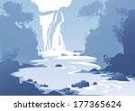 Blue Mountain Landscape With A...