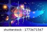 abstract lattice on the... | Shutterstock .eps vector #1773671567