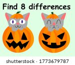 Find 8 Differences Halloween...