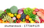 fresh fruits and vegetables... | Shutterstock . vector #177369125