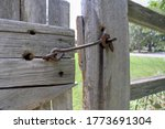 Vintage Wooden Gate And Fence...