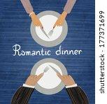 romantic dinner. two pairs of... | Shutterstock .eps vector #177371699