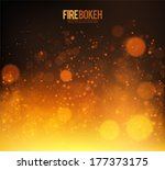Abstract Fire Bokeh. Vector...