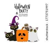 happy halloween party... | Shutterstock .eps vector #1773751997