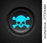 black button with blue skull... | Shutterstock .eps vector #177376484