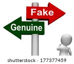 Fake Genuine Signpost Meaning ...