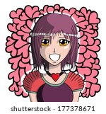young manga girl  vector... | Shutterstock .eps vector #177378671