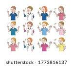 female doctor  nurse ... | Shutterstock .eps vector #1773816137