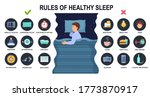 rules of healthy sleep and...   Shutterstock .eps vector #1773870917