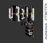 urban street stylish text frame ... | Shutterstock .eps vector #1773877574