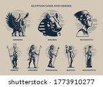 set of egyptian gods and kings. ... | Shutterstock .eps vector #1773910277