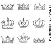 vector set of sketch royal... | Shutterstock .eps vector #177392864
