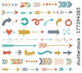 hipster arrows | Shutterstock .eps vector #177394385