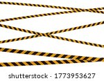 Black And Yellow Lines Of...