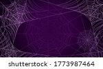spider web on dark background...   Shutterstock .eps vector #1773987464