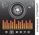music player and musical icons...