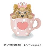 Lovely Vector Puppy  Dog With...