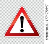 traffic sign attention. german... | Shutterstock .eps vector #1774070897