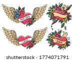 collection of heart tattoos in... | Shutterstock .eps vector #1774071791