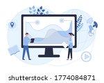digital marketing concept  data ... | Shutterstock .eps vector #1774084871