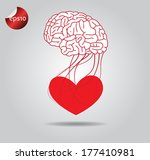 heart and brain vector icon | Shutterstock .eps vector #177410981