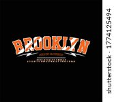 brooklyn supply clothing... | Shutterstock .eps vector #1774125494