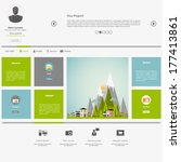 eco flat metro web design... | Shutterstock .eps vector #177413861