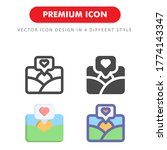 picture love icon pack isolated ...
