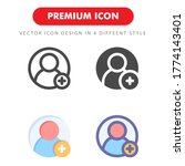 add friend icon pack isolated...