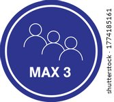 maximum 3 people sign vector ...   Shutterstock .eps vector #1774185161