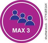 maximum 3 people sign vector ...   Shutterstock .eps vector #1774185164