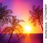 asia,bacground,backdrop,background,beach,beautiful,coast,coconut,colorful,dominican,dusk,evening,exotic,horizon,illustration