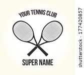 your tennis club logo isolated... | Shutterstock .eps vector #177420857