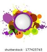abstract  circle watercolor