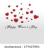 red hearts tucked away in... | Shutterstock . vector #177427091