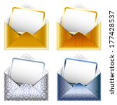 holiday vip invitation. set of... | Shutterstock .eps vector #177428537
