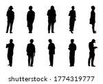 people stand vector set  ... | Shutterstock .eps vector #1774319777