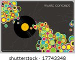retro music background with... | Shutterstock .eps vector #17743348