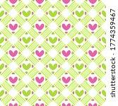 simple cute love lattice weave... | Shutterstock .eps vector #1774359467