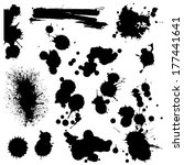 Set Of Blots And Splashes